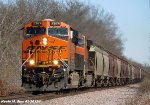 BNSF 7874 leads Grain Train