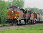 BNSF 4045 trio of 3 leads BNSF GMMBNJ.