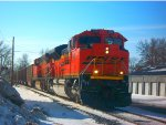 BNSF SD70ACe 9149 leads Eastbound empty