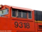 BNSF 9318 cab