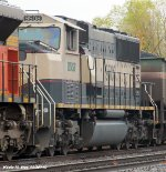 BNSF 9318 & BNSF 9508 tied down in the siding