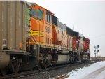 BNSF 9880 & BNSF 6056 lead coal @ Clay