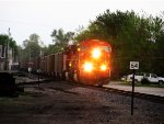 BNSF 9990 leads empty coal eastbound