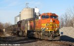 BNSF 4944 & BNSF 8208 lead empty ballast train