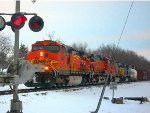 BNSF 4442 leads a Warbonnet and CSX on H-GALMAD
