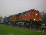 BNSF 7390, BNSF 4539, & CEFX 3161