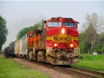 "BNSF ""Warbonnet"" 722 leads H-GALMAD1-10A."