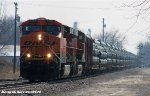 BNSF 7567 & BNSF 7396 lead the U-LRKGGM (Pipe Train)
