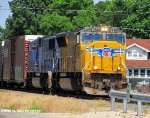 "UP 5027 & UP ""Olympic Torch"" 2002 lead CSXT V263-12"