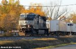 NS 9785 leads NS 260 roadrailer