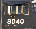 NS # 8040 cab shot on 70E