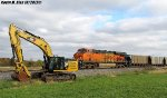 BNSF 6306 with CAT