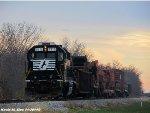 NS 5315 leads NS 946 work train