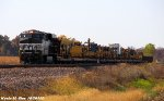 NS 8079 leads BNSF U-MFOADR work train