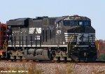 NS ES44AC 8079 on BNSF U-MFOADR work train