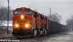 BNSF 5676 leads the BNSF U-BIRSEM