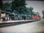 BNSF Military train