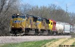 UP MCHPB-12 with Arkansas & Oklahoma GP30 # 2402