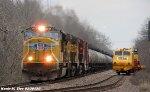 UP 4959 leads UP OCHSJ-07 by Herzog Work Train
