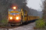 UP 4259 leads Work Train to Texas