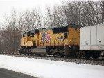 UP SD70M 5108 w/ roadrailer