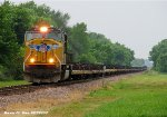 UP 4598 leads Empty Wind Mill train to Griffith, Indiana. (SLIGF-04)