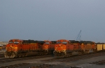 Coal Trains in the Grain Yard