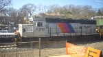 NJT GP40-2 4300 works on station reconstruction