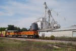 BNSF 7278 teams with 4912 to hurry more stacks east.