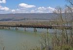 CSX Ballast train crossing the Tennessee River