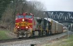 Warbonnet In BNSF Scheme leads 212 thru Phillipsburg @ 0926 hrs