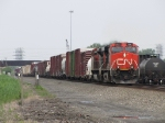 A pair of CN's newer units head east with 17R