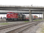 CP 9777 leads the diplay consist out of the yard