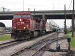CP 9593 & 9614 roll around Bensenville Yard with 298