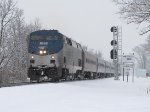 With the switch fixed, 351 heads west again exiting the Michigan District