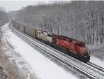 CP 5750 & SOO 6038 roll west on Track 2 with 35T
