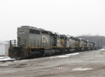 9 Stored GTW SD40-3's await their fate