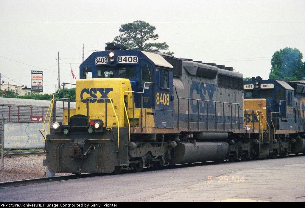 CSX SD40-2 8408