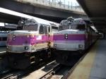 MBTA F40PHs 1007 & 1014