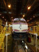 MBTA 1050 in the Diesel House