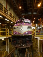 MBTA 1121 in the Diesel House at BET