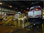 MBTA 1032, 1002 & 1050 in the Diesel House