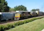 UP 5161 leads Westbound through Rochelle, IL