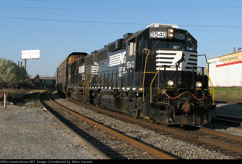 NS 5540 with a GZ yard transfer