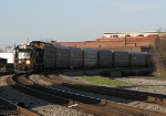 NS 5540 leads a Industry Yard transfer