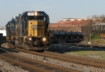 Former Conrail SD50 leads Q600 around the curve with Markers on!