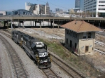 NS 4634 passing the Spring St. Tower
