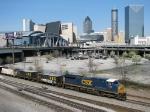 CSX 7310 leads a empty agreggate train