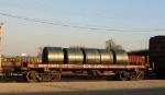 Wedged BNSF coil car