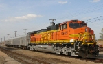 BNSF 4845 with an inspection train
